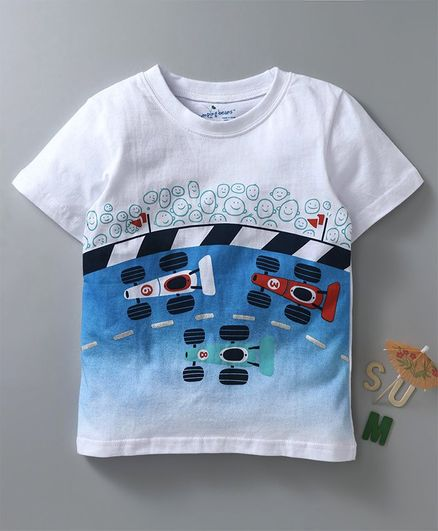 kookie kids size (6T) White T-shirt Carton printed