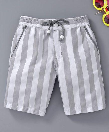 Rikidoos Striped Shorts - Grey & White