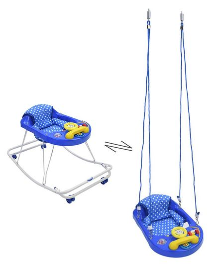New Natraj 3 In 1 Walker Teddy Polka Dot Print - Blue