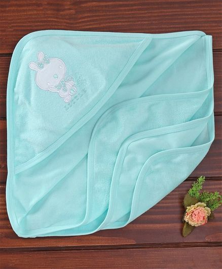 Simply Hooded Towels Bunny Patch - Sea Blue