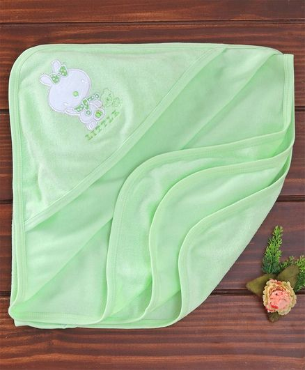 Simply Hooded Towels Bunny Patch - Green