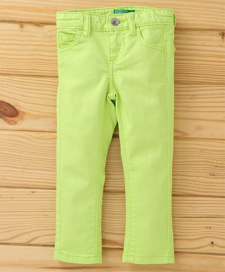 UCB Adjustable Elastic Waist Jeans - Green