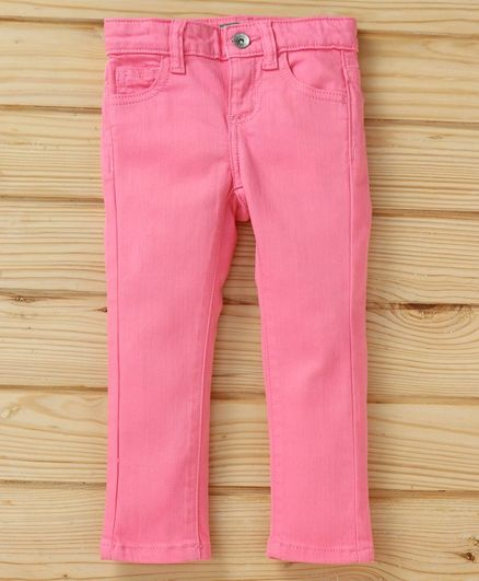UCB Full Length Solid Jeans - Pink