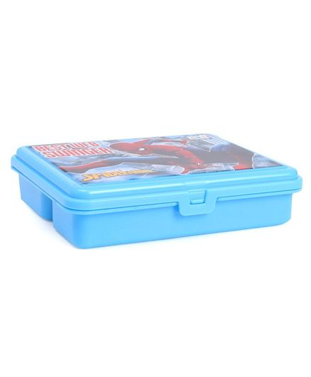 Marvel Spider Man Lunch Box With Fork Spoon - Blue