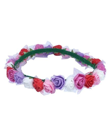 Rv Praman Princess Floral Tiara - Multicolour
