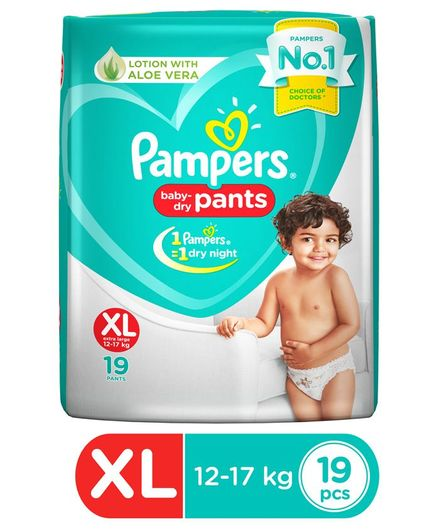 Pampers Pant Style Diapers Extra Large Size - 19 Pieces