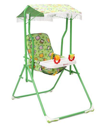 Mothertouch Garden Swing Monkey Print - Green