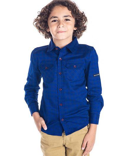 Cherry Crumble California Checkered Full Sleeves Shirt - Blue