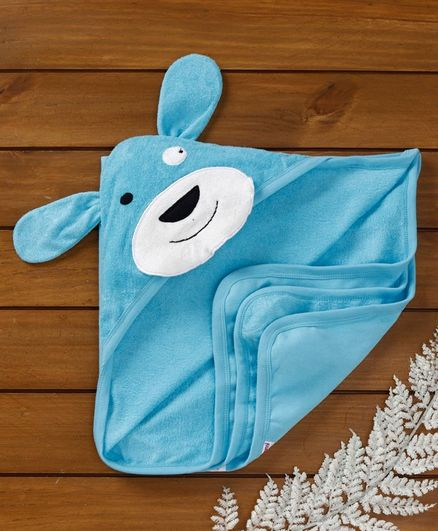Ben Benny Terry Hooded Towel Animal Patch - Blue