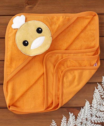 Ben Benny Terry Hooded Towel Animal Patch - Orange