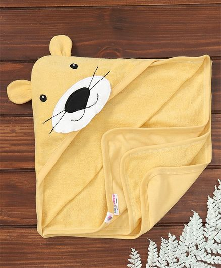 Ben Benny Terry Hooded Towel Animal Patch - Yellow