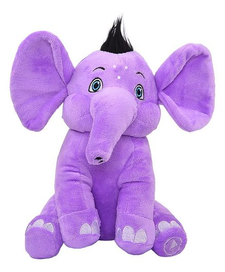Appu Series Musical Elephant Plush Toy Purple - Height 25.4 cm