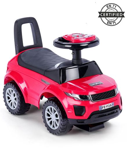 Babyhug Sporty Manual Ride On Car With Underseat Storage - Red