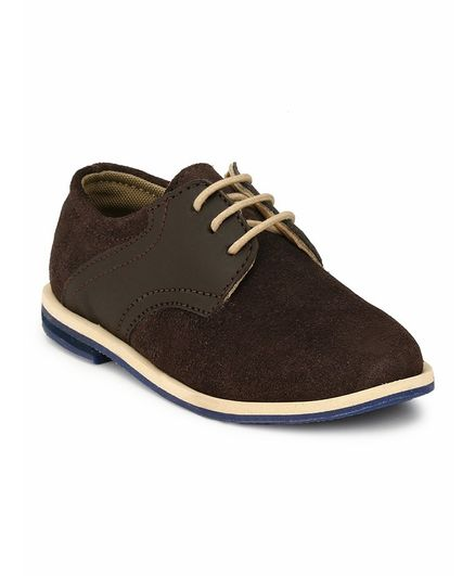 Tuskey Lace Detailed Formal Shoes - Dark Brown