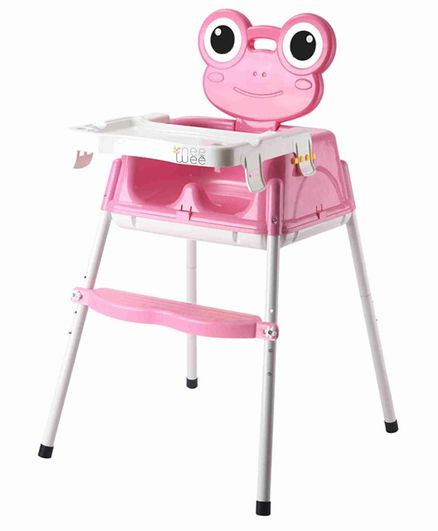 Nee & Wee 4-in-1 Baby High Chair Cum Booster Seat - Pink