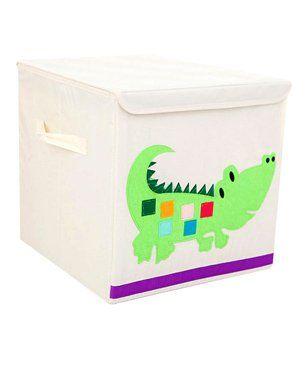 Nee & Wee Crocodile Print Storage Box - Cream