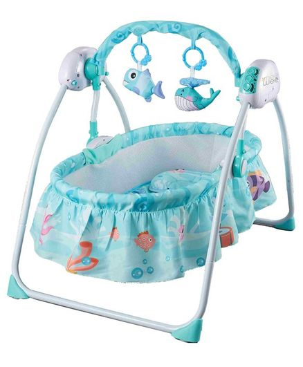Nee & Wee Auto Swing Cradle with Remote - Sea Green