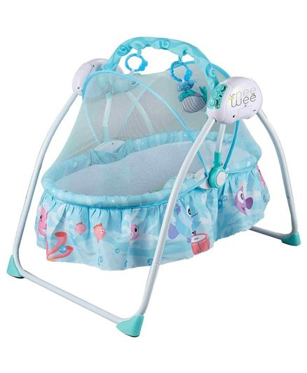 Nee & Wee Bedtime Bliss RC Cradle - Blue