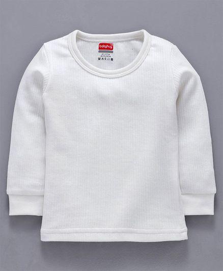 Babyhug Full Sleeves Thermal Vest - Off White