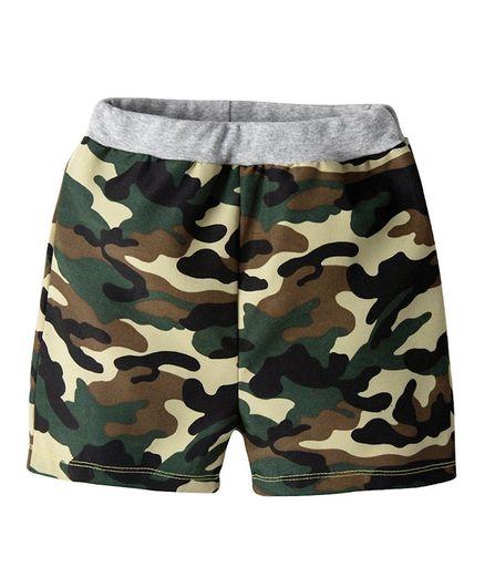 Awabox Camouflage Print Shorts - Green