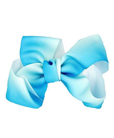 ELSANOA Ribbon Bow Hair Clip - Light Blue