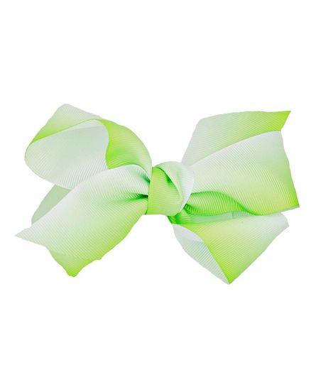 ELSANOA Ribbon Bow Hair Clip - Green