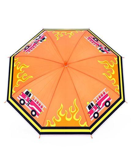 Fire Truck Print Umbrella - Orange
