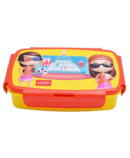 Milton Lunch Box With Small Container Red Yellow - 900 ml