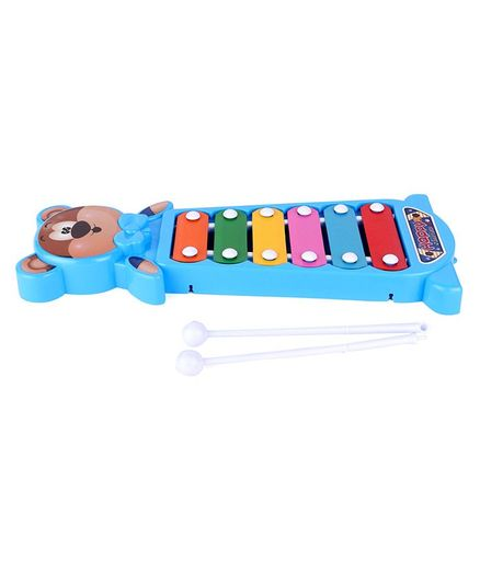 Ratnas Happy Little Bear Xylophone - Blue