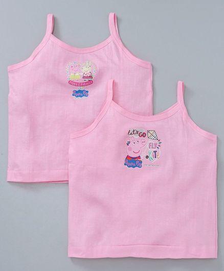 Mustang Peppa Pig Print Slip Pack of 2 - Pink