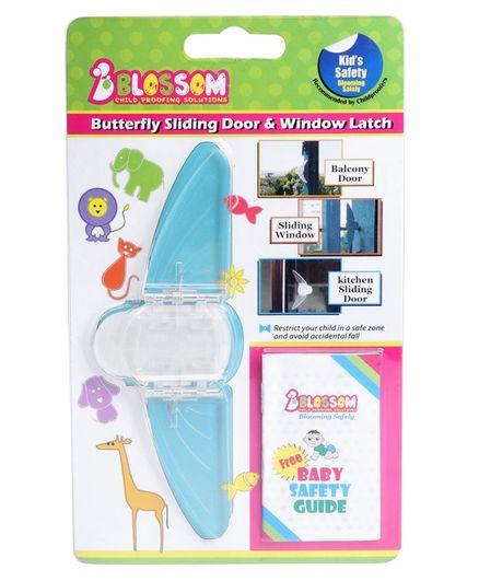 Blossom Butterfly Sliding Door & Window Latch - Transparent