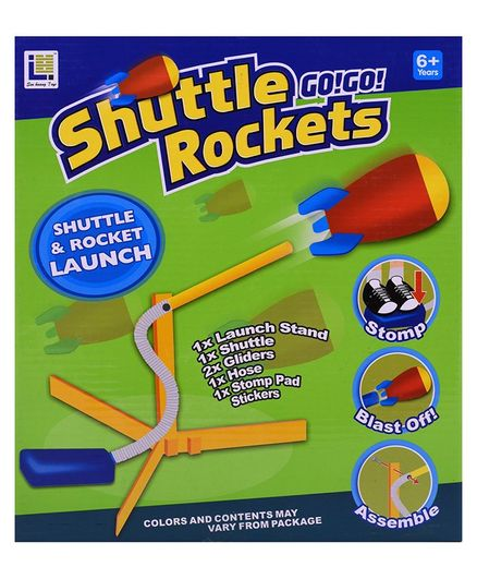 Curtis Toys Fun Rocket Launching Game - Multicolour