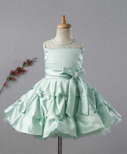 Enfance Solid Sleeveless Dress - Light Green