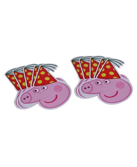 B Vishal Peppa Pig Face Mask Pink - Pack Of 9