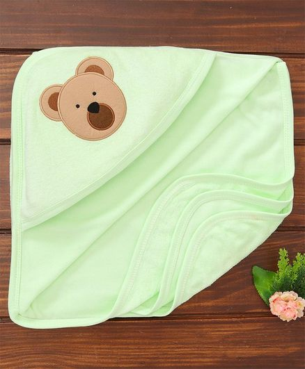 Simply Hooded Towel Bear Patch - Green