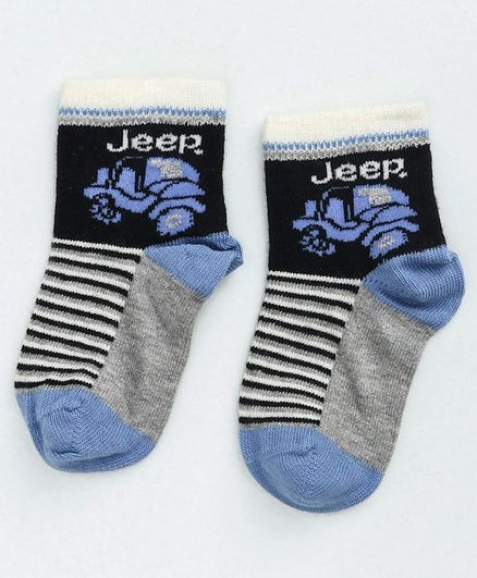 Mustang Ankle Length Socks Jeep Design - Multicolour