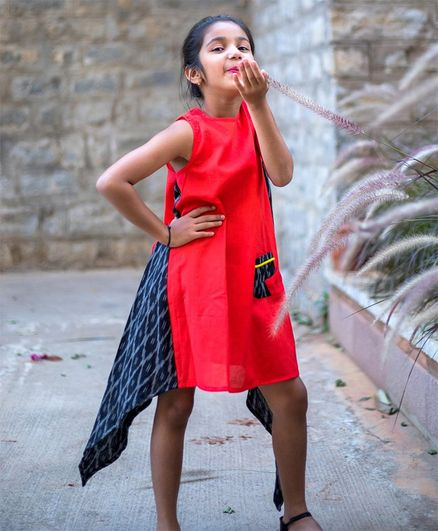 Tutus by Tutu Printed Sleeveless Dress - Red & Black