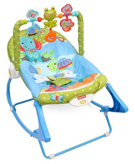 Fisher Price Infant To Toddler Rocker Animal Design - Blue