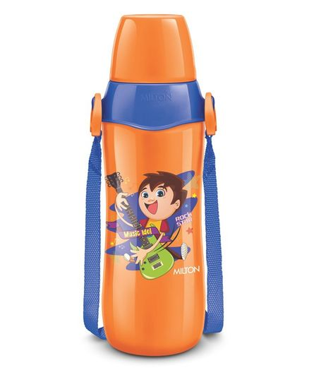 Milton Steel Whizz 900 Vacuum Insulated Sipper Water Bottle Orange - 690 ml