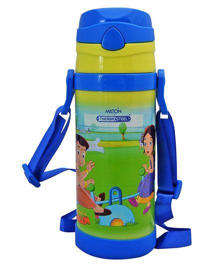 Milton Campy 650 Thermosteel Sipper Bottle Chota Bheem Print Green - 410 ml