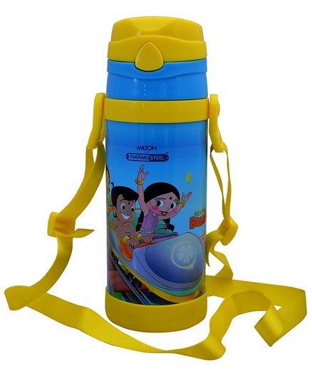 Milton Campy 650 Thermosteel Sipper Bottle Chota Bheem Print Blue Yellow - 410 ml