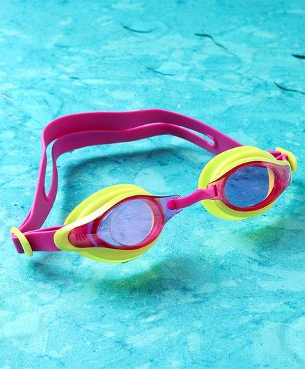 Speedo Unisex Swimming Goggles - Pink Yellow