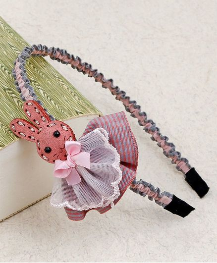 Kidlingss Bunny WIth Knot Detail Hair Band - Pink