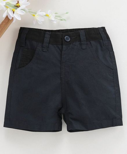 Babyhug Mid Thigh Length Shorts - Navy Blue