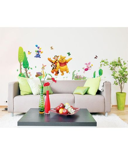 Syga  Winnie The Pooh And Tiger Wall Sticker - Multicolor