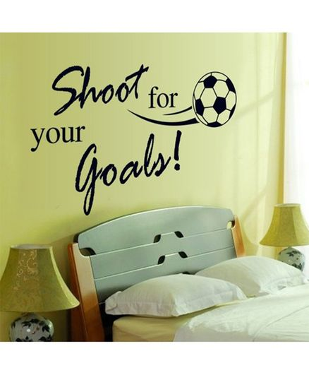Syga Motivational Sports Quotes Wall Sticker - Black