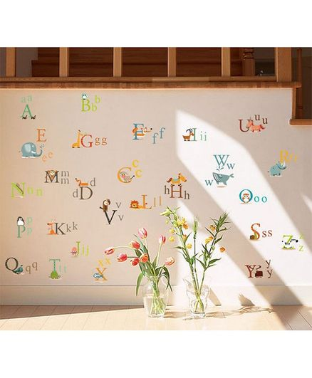 Syga Alphabet PVC Vinyl Wall Sticker - Multicolour