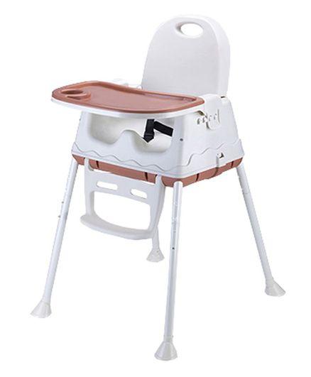 Syga Height Adjustable High Chair - Brown