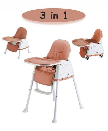 Syga 3 in 1 Cushioned High Chair - Brown