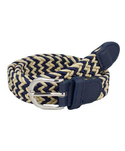 Kidofash Zig Zag Pattern Belt - Cream